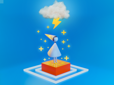 Monument Valley 3D Representation. graphics design avatars environment minimalist modeling 3d blender