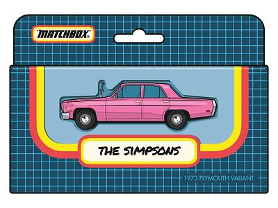 Homer Simpson`s Car simpsons vector matchbox illustrator illustration ai