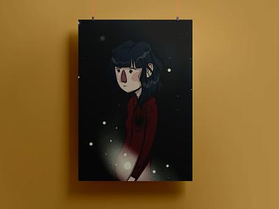 The Shadow Inside digital illustration girl colors art digital art procreate illustration