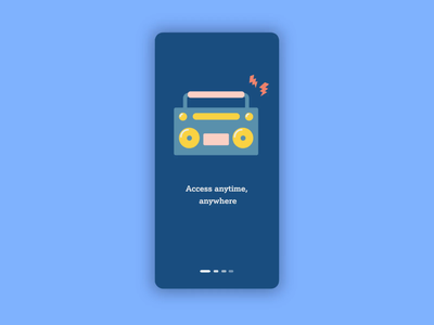 A1 Mobile - Explore the world of music a1 telecom mobile app onboarding animation illustration uxui