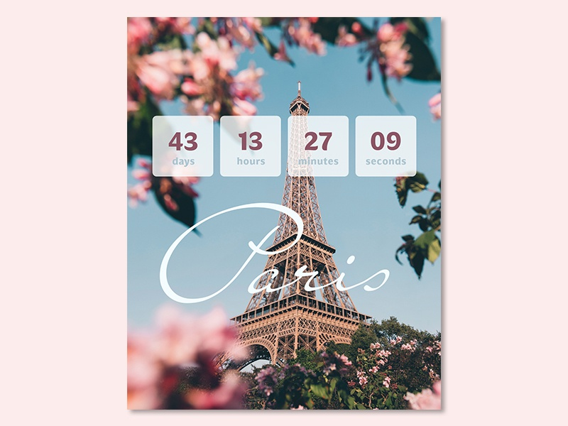 Daily UI #014 - Countdown Timer app mobile interface ux design ui vacation popup timer countdown daily ui challenge daily ui