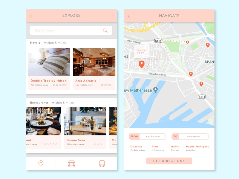 Daily UI #029 - Map by Jelena on Dribbble on