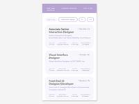 Daily UI #050 - Job Listing