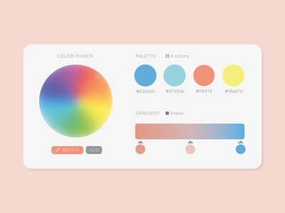 Daily UI #060 - Color Picker colorwheel palette colors palette gradient eyedropper colors color picker illustration desktop mobile app ui interface ux design daily ui challenge daily ui
