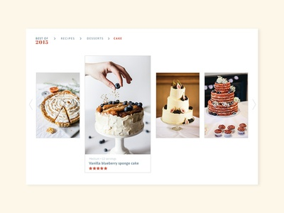 Daily UI #063 - Best of 2015 category food app rating favorites best of food recipes gallery typography desktop mobile app ui ux interface design daily ui challenge daily ui