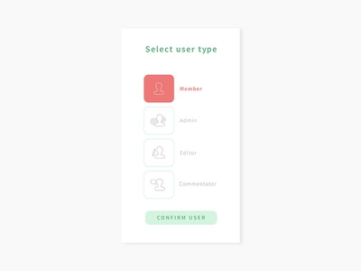 Daily UI #064 - Select User Type editor admin select user user sign up sign in form typography desktop mobile app ui interface ux design daily ui challenge daily ui