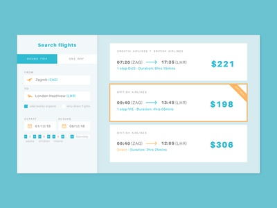 Daily UI #068 - Flight search airplane vacation trip flight booking flight search flight typography desktop mobile app ui ux interface design daily ui challenge daily ui