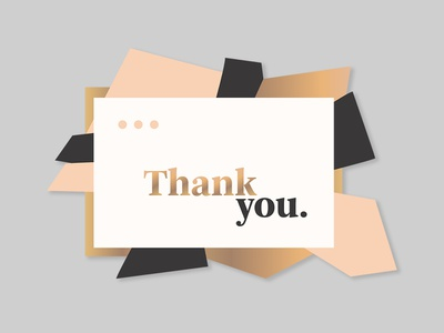 Daily UI #077 - Thank You message newsletter thank you card popup illustration typography desktop mobile app ui ux interface design daily ui challenge daily ui