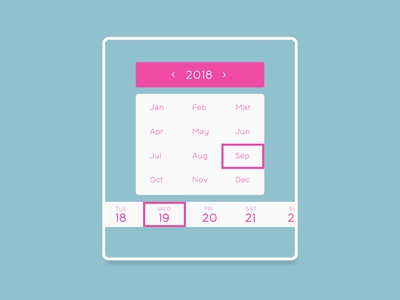 Daily UI #080 - Date Picker