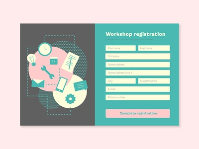 Daily UI #082 - Form application workshop registration contact email activity list form illustration typography desktop mobile app ui interface ux design daily ui challenge daily ui