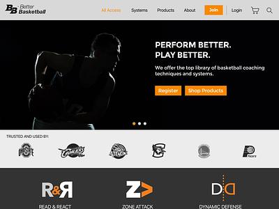 Better Basketball Training System Web Design design branding ui web design
