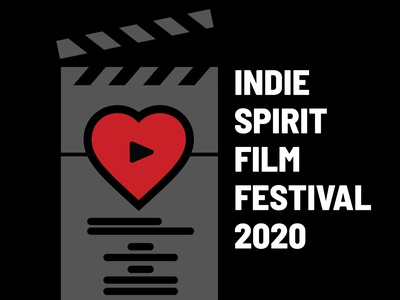 ISFF 2020 Poster icon logo design film festival poster vector illustration