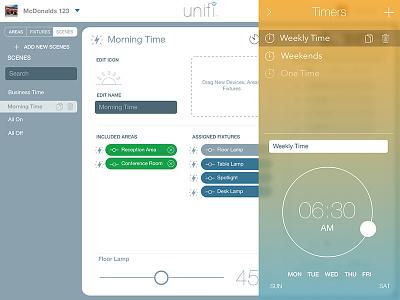 Light Commissioning App Timer Edit web app timer ios lighting scene ui ux