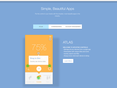 Company Website Material Design and Animations
