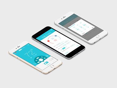 App Design for Ecobee Thermostat hvac ios control iot thermostat ux ui