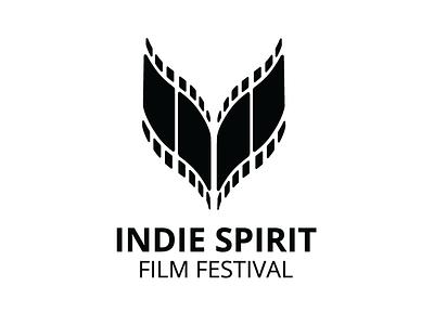 Logo for the Indie Spirt Film Festival in Colorado Springs colorado concept clean negative festival film logo