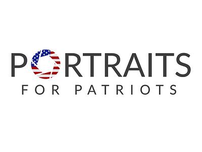 Portraits for patriots branding non profit camera lens logo