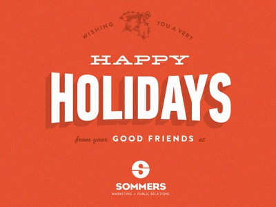 Sommers Marketing Holiday Card holidays christmas typography marketing card