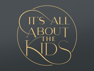 St. Jude - It's All About the Kids custom font custom type custom lettering branding logo typography type
