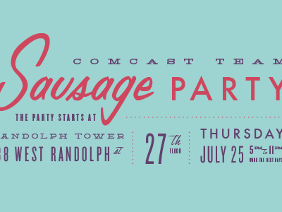 Sausage Party details typography
