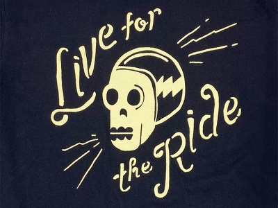 Live For The Ride // Gasoline And Us typography skull motorcycles gasoline and us shirt