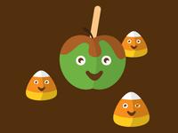 Candy corn & caramel apples