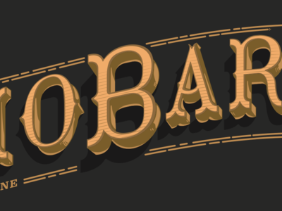 Bibliobar typography logo books library