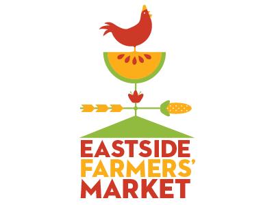 Eastside Farmers' Market #2.5 chicken apple corn logo weathervane