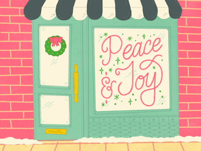 Holiday Card WIP storefront illustraion christmas holiday card holiday