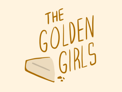 The Golden Girls logo branding procreate design illustration dribbbleweeklywarmup