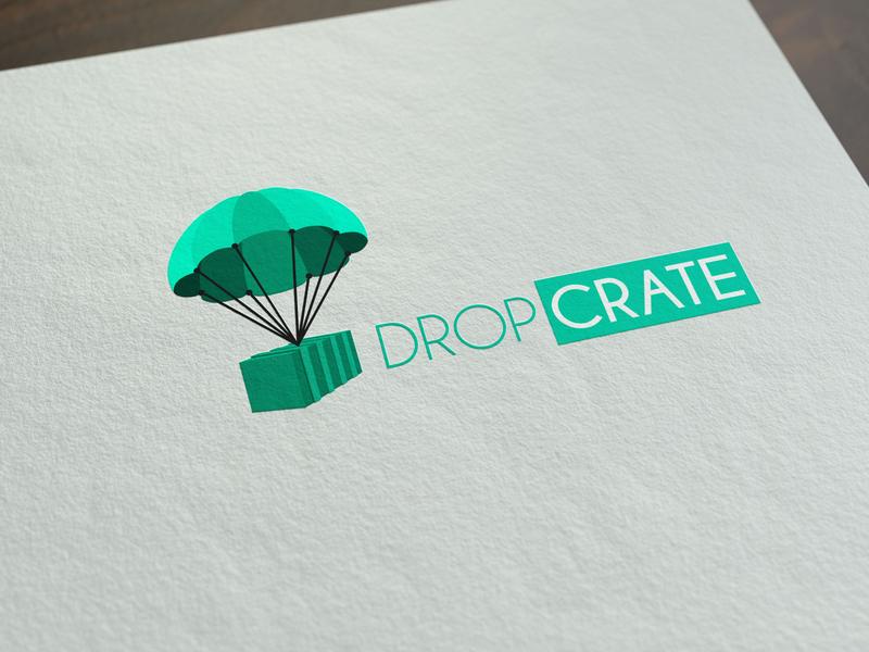 Logo design for Dropcrate branding logo