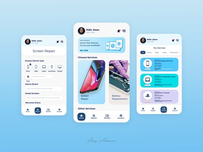 Repair App Design app design uiux