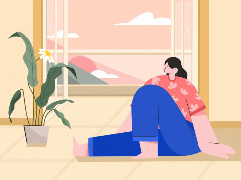 Hope hopeful cute color design home illustration