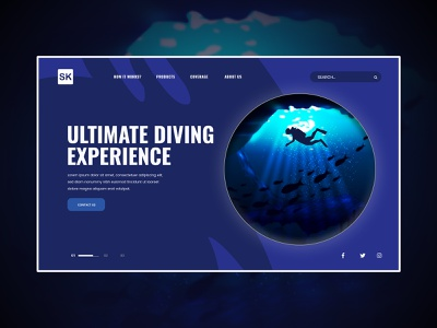 Sea Floor With Scuba Diver (Landing Page) scuba mask wetsuit water sport flipper scuba diver summertime oxygen scuba diver silhouettes underwater vacation ocean holiday sea sport summer water background