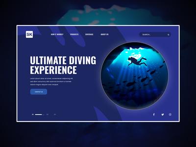 Sea Floor With Scuba Diver (Landing Page)