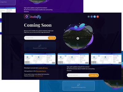 Instafly - Landing Page