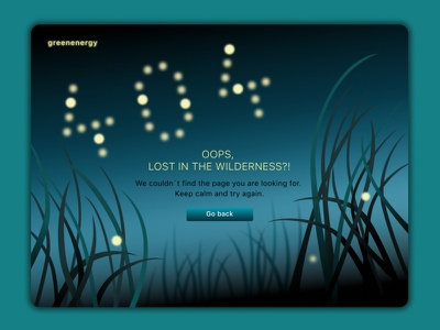404 page error – lost in the wilderness ui energy error page error 404 interactiondesign illustrator dailyui