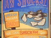 Aw Shucks! Oyster sign