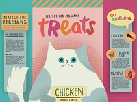 Mock packaging design - cat snacks