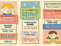 Mother's Day Retro Ads