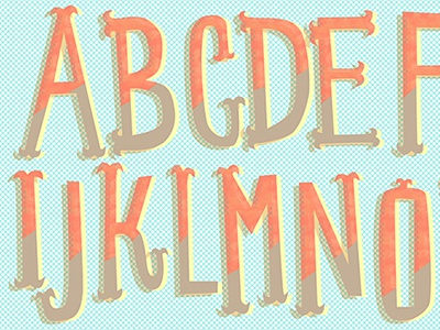 Cute-sy ABCs! type typography lettering cute retro illustration design illustrated type children surface