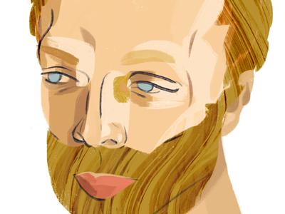 Portrait portrait illustration digital painting color texture
