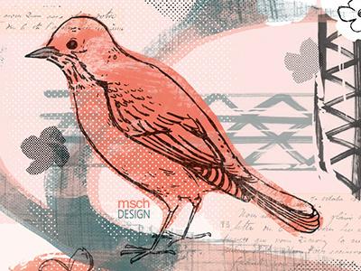 Spring Bird product design surface design design illustration art bird birds texture pattern
