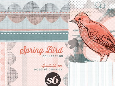 Collection Signage signage collection pattern illustration surface design product retail promo web packaging birds