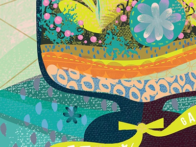 Terrarium illustration design texture terrarium plants cute product surface color