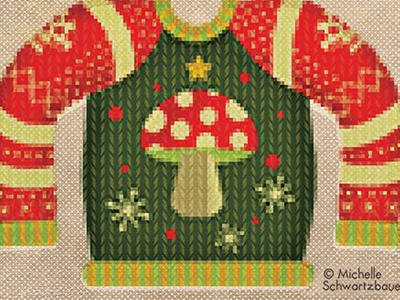 I'll be Gnome for Christmas Sweater humor illustration surface design product color christmas cute