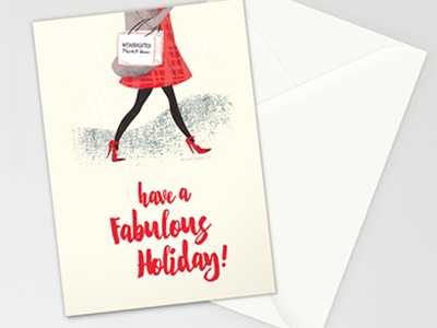Holiday Fashionista typesetting christmas holiday fashion illustration design stationery