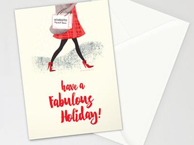 Holiday Fashionista typesetting christmas holiday fashion illustration design stationery