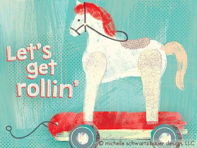 Vintage Horse Toy product color texture design illustration toy vintage