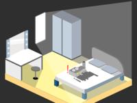 Isometric artist Room